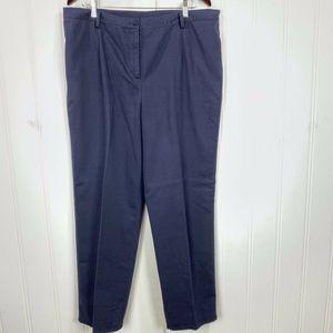 Pendleton Women Chino Blue Pants Sz 18 P Zip
